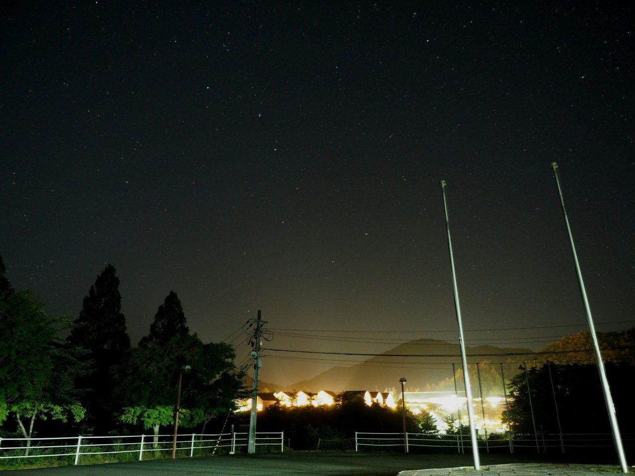 北斗七星と子の星(北極星)