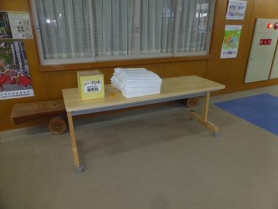 会議用テーブル(奥行600mm)設置状況 ① シーツ室前1台 (1)